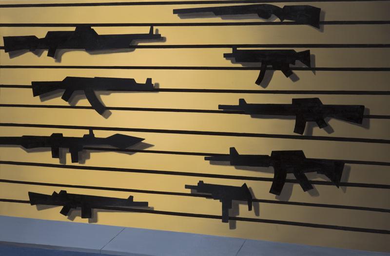 Gun Store - 2013 - oil on canvas - 100x150cm