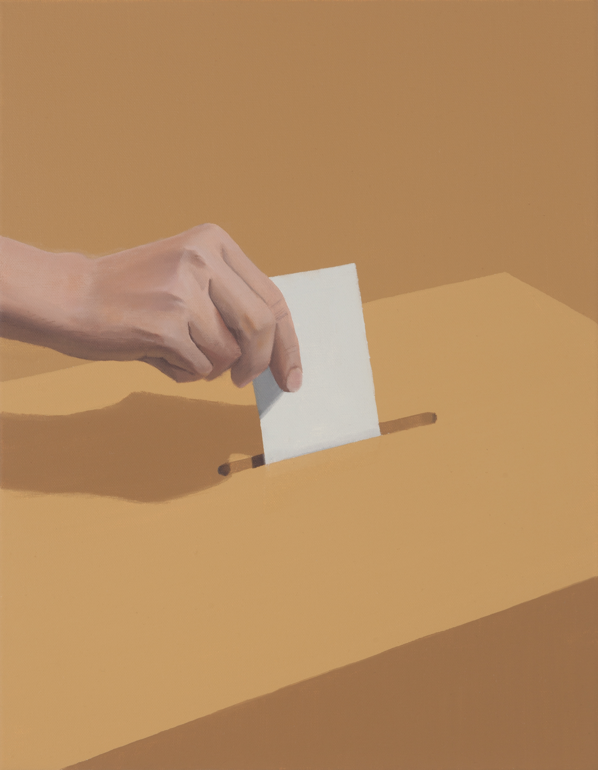 Kansanvalta - Democracy-  2020 - oil on canvas - 45x35cm